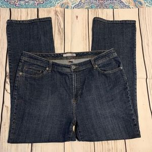 CHICO'S PLATINUM SIZE 2.5 SHORT JEANS EUC BOOT CUT